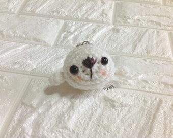 Crochet Seal amigurumi Bag charm, amigurumi seal, baby seal keyring, seal keychain