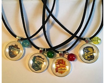 Hogwarts House Cabochon Pendant Necklace
