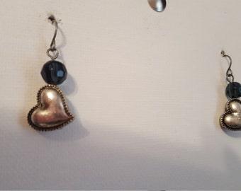 Silver Heart Earrings 1714