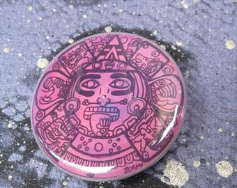 1.25in Button--Tonatiuh/Sun God