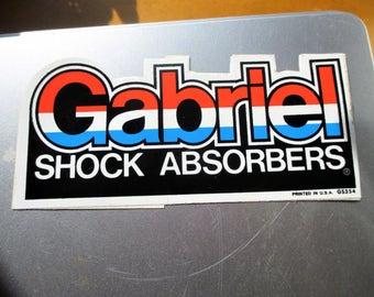 Vintage Original Gabriel Shock Absorbers Decal Sticker