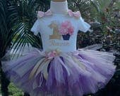 1st birthday outfit girls,pink and purple tutu,one year old,first birthday outfit girl,personalized,first birthday party outfit girl