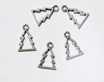 Tree Tibetian Silver Charm
