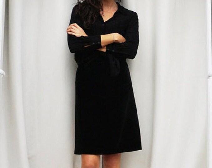 Black Velvet Skirt, High Waisted Black Velvet Pencil Skirt, Knee Length Skirt, 80s Velvet Pencil Skirt, Evening Skirt, Fun Fashion Tumblr