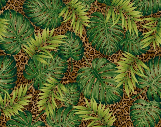 Half Yard Jungle Minis - Jungle Skin in Multi - Cotton Quilt Fabric - by Whistler Studios for Windham Fabrics - 40255-X (W3542)