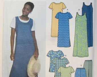 Simplicity 9754 Dress Tunic Top Jumper Pants Shorts Sewing Pattern Misses Sizes 8 - 14 Uncut