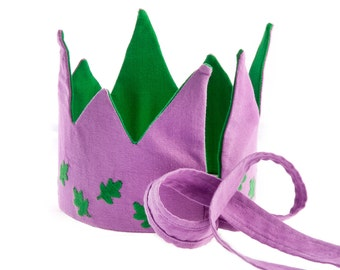 Fair trade Reversible Oak Leaves Crown, forest, woodland waldorf pretend play toy