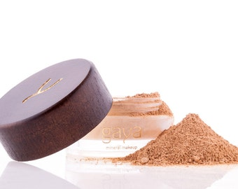 Mineral Foundation (MF4 Shade) Vegan Makeup Powder, Unique 4 IN 1, 100% Natural Multipurpose Full Coverage For All Skin Types
