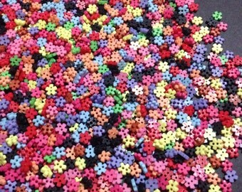 Tiny Flower Shape Button 6mm - 100pcs wholesale lot