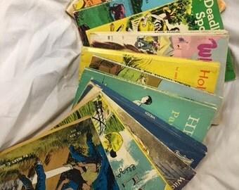 One Dozen Vintage Children's Books, 1950s to 1970s, Nostalgic (includes 1965 Heidi)
