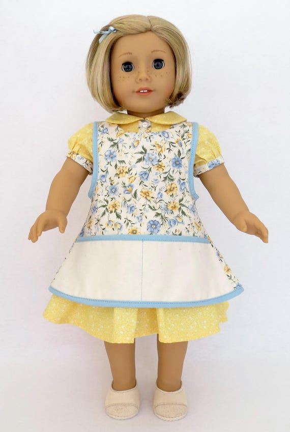 1930s Feedsack Dress and/or Apron for 18 Inch dolls such as American Girl®