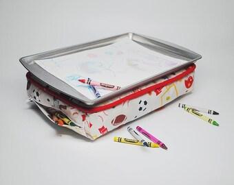 Sports Kid's Lap Desk - Kid's Lap Desk - Kid's Lap Tray - Kid's Lap Pillow - Sports Toys - Travel Toys - Kid's Birthday Gift