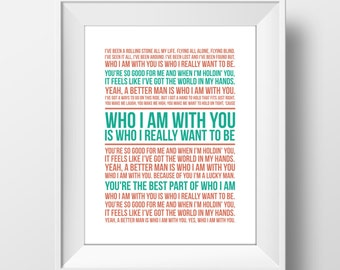 Who I am With You Print