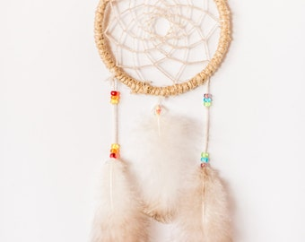 Festival Dreamcatcher, cute boho dreamcatcher, small rainbow dreamcatcher, crystal, wall hanging