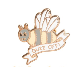 Buzz Off Bee Enamel Pin
