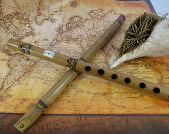 Vintage Bamboo Toy Musical Recorder Flute Bahamas