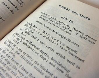 Poems E B Browning 1920s Poetical Vintage hardback Book Vintage, gift, collectables, Poet