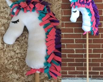 Unicorn Hobby Horse,  Play Horse, stick horse