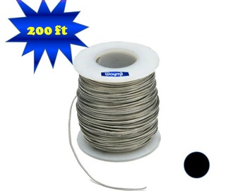 Nickel Silver Wire 18 Gauge Round 200 FT 1 Lb Spool Jewelry Findings Metal Design Wa 845-210