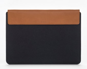 MacBook Air 13 Cover - MacBook Air 13 Case - MacBook Air Sleeve - MacBook Air 13 - Back Felt Leather Case - Apple Laptop 13 Sleeve