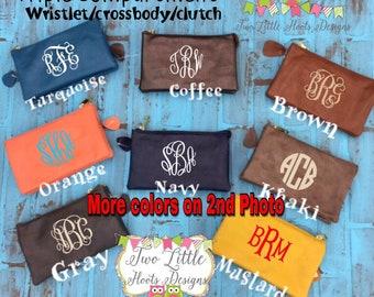 Wallet ~ Monogrammed Wallet ~ Wristlett Wallet~ Crossbody ~ Triple compartment Wallet ~ Christmas
