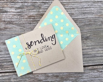 thinking of you card set || sending you love and hugs