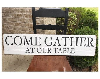 Come Gather at our Table - STENCIL ONLY