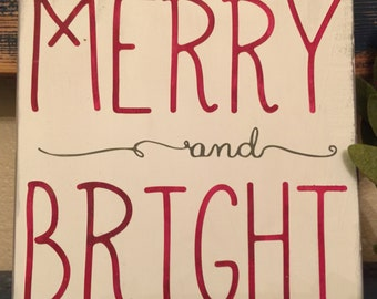 Merry and Bright STENCIL ONLY
