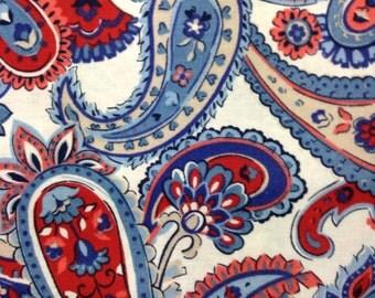 One Half Yard of Fabric - Patriotic Paisley