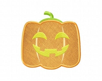 Jack O Lantern Includes Both Applique and Stitched