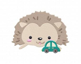Hedgehog Face Machine Embroidery Design
