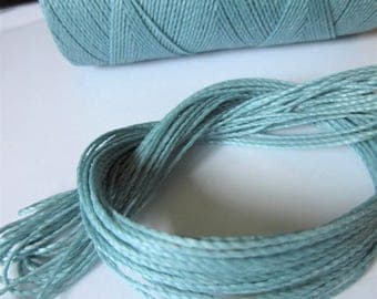 Sky Blue Waxed Polyester Cord 25ft pack  = 8.33 yards = 7,6 meters Linhasita Thread Brand #226