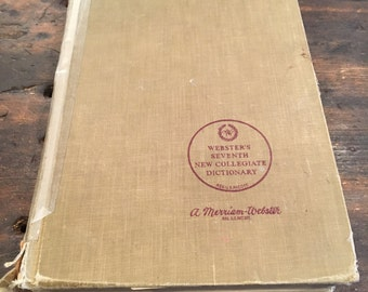 1970 Webster's Seventh New Collegiate Dictionary / Merriam-Webster / 1221 Pages