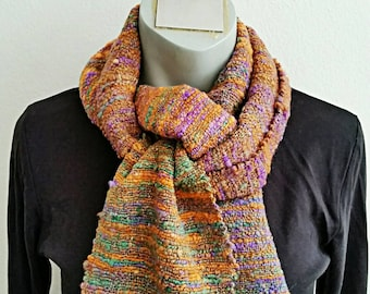 Silk and Wool, Hand spun Hand woven, Scarf