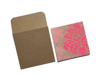 Set of 8 - Mini Note Cards - Mini Cards - Lunchbox Notes - Love Notes - Square Cards - Mini Note Card Set - 3x3 Note Cards - Mini Envelopes