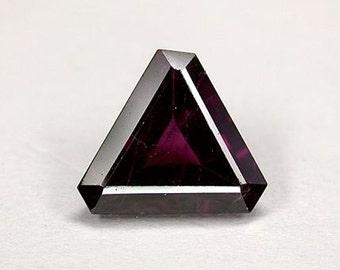 Loose 2.09 ct Trillion Cut Garnet - 9.1 mm - Dark Pinkish Color