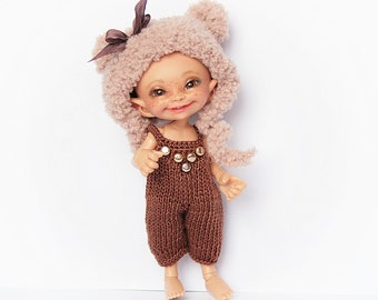 """Realpuki Knitted outfit """"Choco Bear"""""""