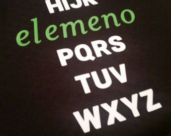 Elemeno Alphabet Shirt