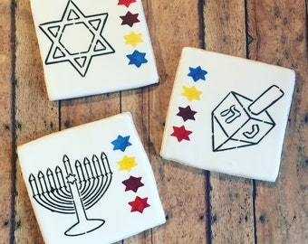 Jewish/ Chanukah/ Hanukkah / paint your own cookie / menorah cookie/ sugar cookies- 1 dozen boxed cookies included