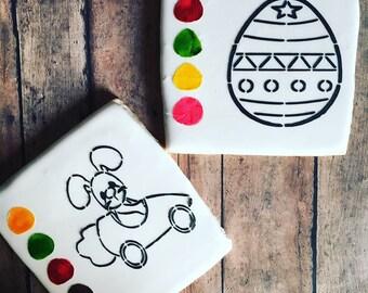 Eastern / paint your own cookie / eastern cookie/ sugar cookies / rabbit cookies - 1 dozen cookies
