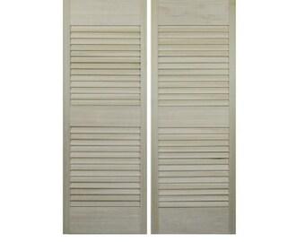 "Louvered Cafe | Saloon Doors For Standard Doors Sizes 24"", 30"", 32"", 36"" door opening sizes"