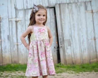 Girls Dress - Tea Party Dress - Sun Dress - Spring Dress - Strappy Dress - Summer Dress - Boutique Dress - Toddler Dress - Hourglass Dress