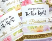 Will You Be My Bridesmaid Card | Bridesmaid Proposal | Bridesmaid Gift, Bachelorette Party, Flower Girl Gift, Jr. Bridesmaid Gift, Hair Ties
