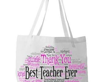 Teacher Personalised Word Art Bag