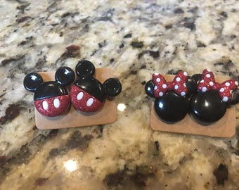 Mickey and Minnie Stud Earrings