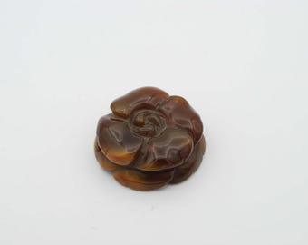 Agate Flower 40mm, 12mm thick Pendant