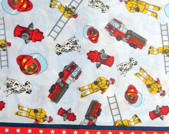Fireman Fabric Fireman Double Boarder Fabric 100% Cotton