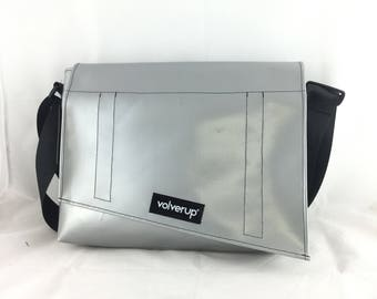 1096 - Computer bag, hand made in Italy from upcycled materials.