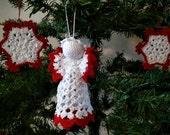 Christmas Angel Crochet Christmas Ornament Winter Wedding Decor made to order
