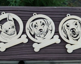 Personalized Wood Dog Ornaments / Dog Christmas Ornament / Christmas / Personalized Dog Ornament / Christmas gifts / Made to Order